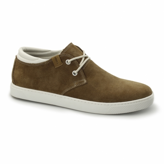 Jack & Jones HAMLIN Mens Suede Leather Trainers Cognac