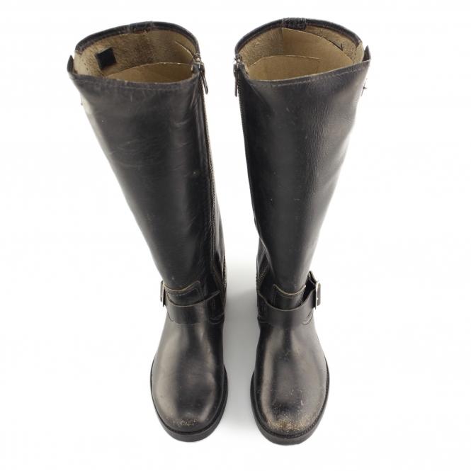 Boots Leather Zip Davidson Hi Biker Harley Kananwood Black CeodxB