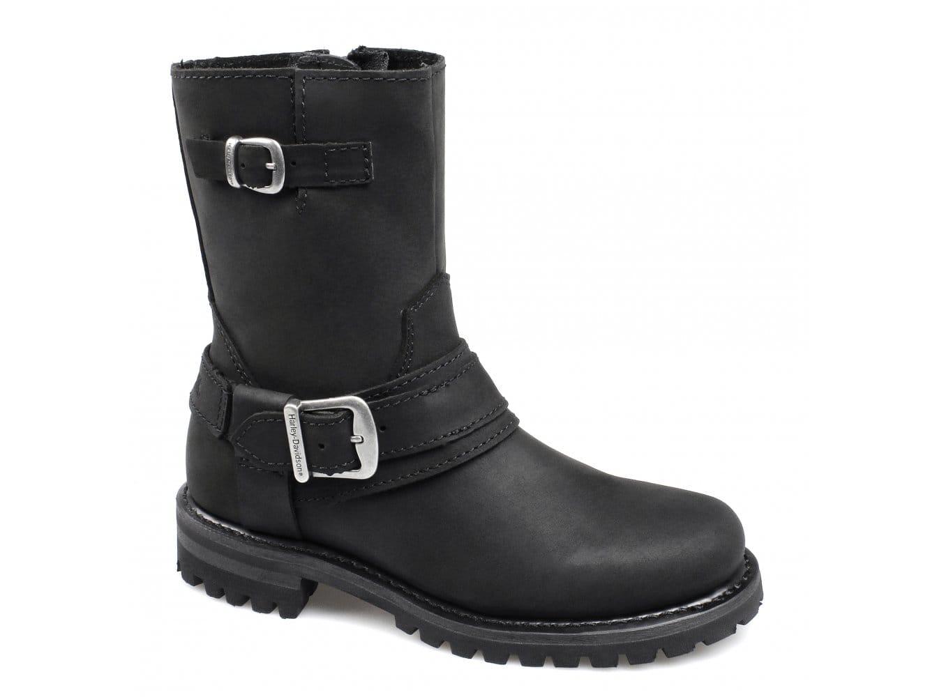 harley davidson scarlet womens zip biker boots black | buy at shuperb