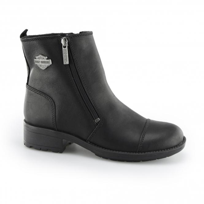 Harley Davidson SENTER Ladies Leather Zip Biker Boots ...