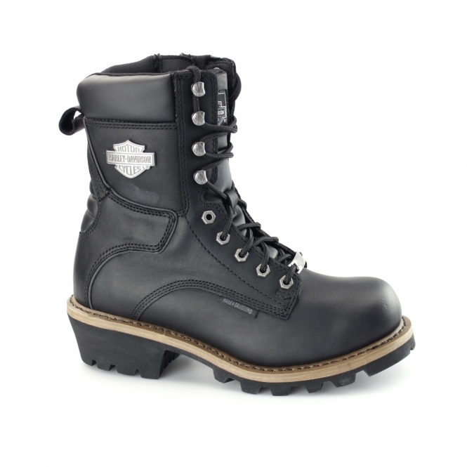 Harley Davidson TYSON Mens Leather Biker Boots Black