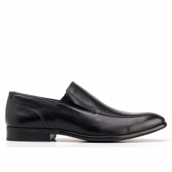 Base London HARRISON Mens Leather Slip On Loafer Shoes Black