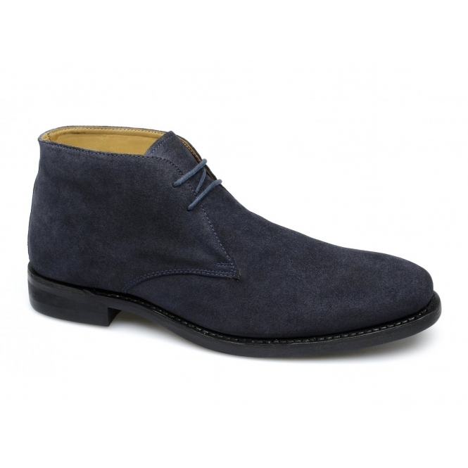 Lucini HARRISON Mens Suede Chukka Boots Navy