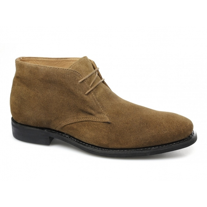 Lucini HARRISON Mens Suede Chukka Boots Snuff
