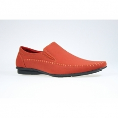 HARVEY Mens Faux Suede Casual Loafers Red