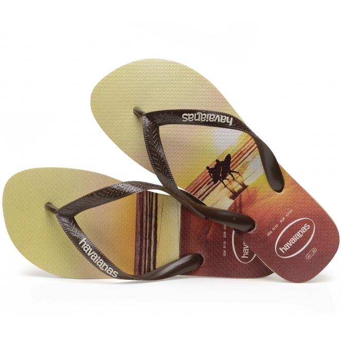e6a10f2ea Havaianas HAV HYPE Mens Flip Flops Sand Grey Dark Brown