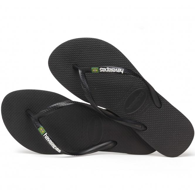 a67499722639 Havaianas HAV SLIM BRASIL LOGO Ladies Flip Flops Black