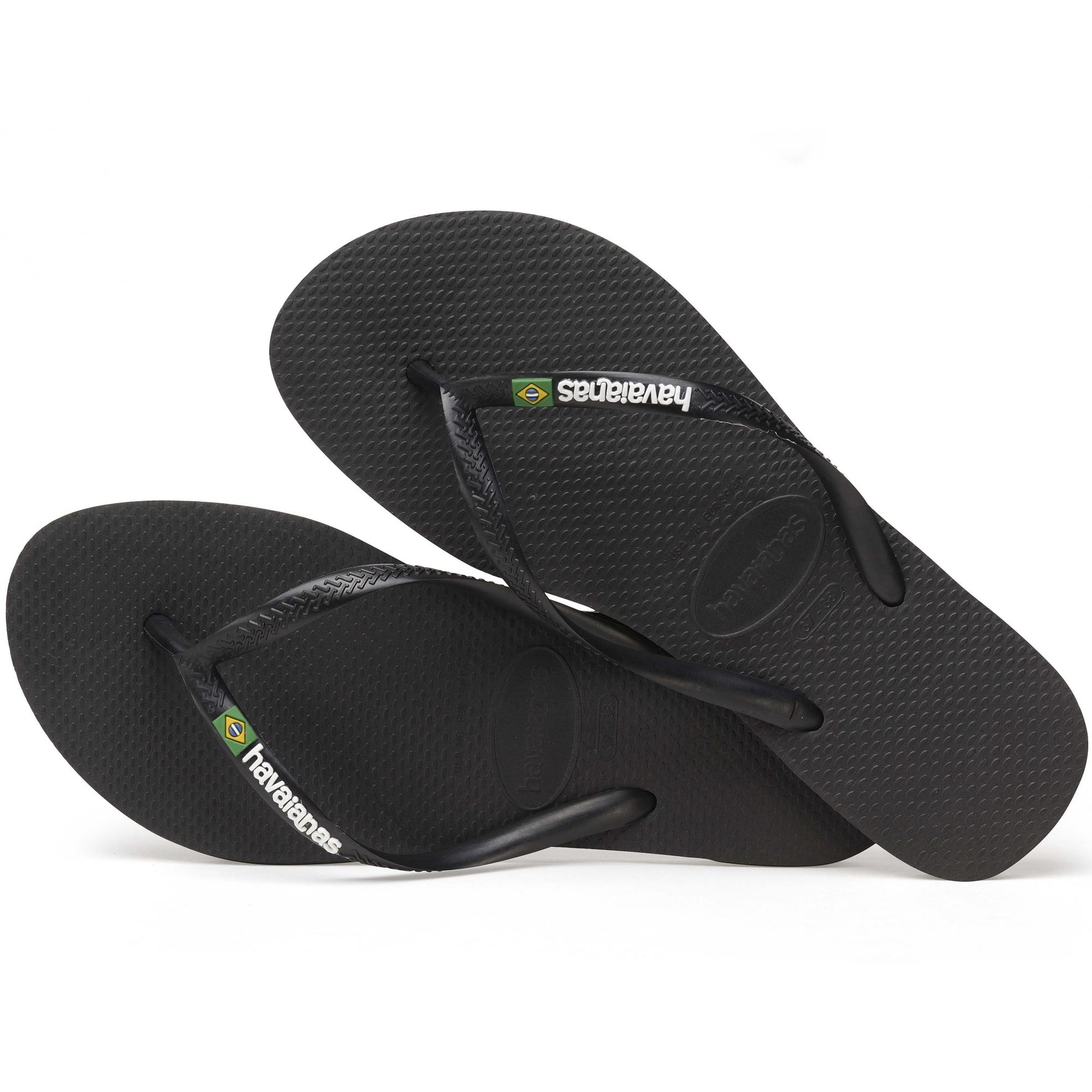 0fac5ea7e3f6ea Havaianas HAV SLIM BRASIL LOGO Ladies Flip Flops Black