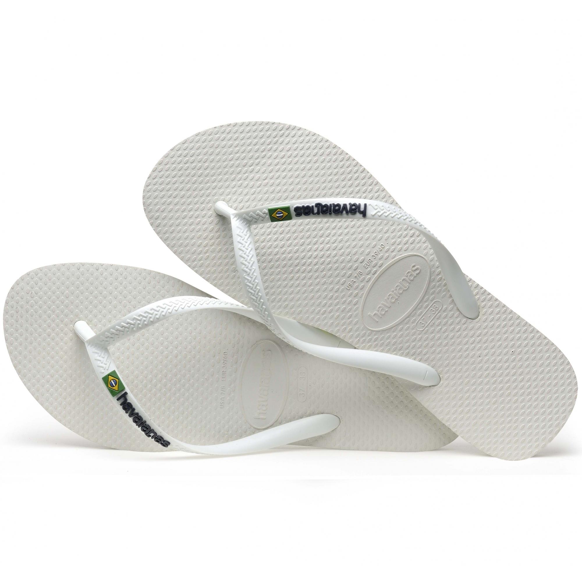 51ed17ac9175 Havaianas HAV SLIM BRASIL LOGO Ladies Flip Flops White