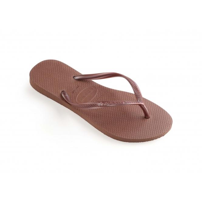 9e069c9991da Havaianas HAV SLIM Ladies Flip Flops Bronze Nude