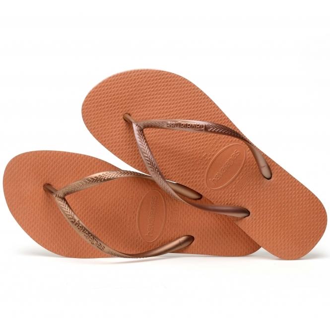 c7c85cf2d Havaianas HAV SLIM Ladies Flip Flops Bronze Orange