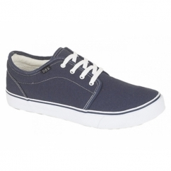 HECTOR Unisex Canvas Lace-Up Deck Shoes Navy