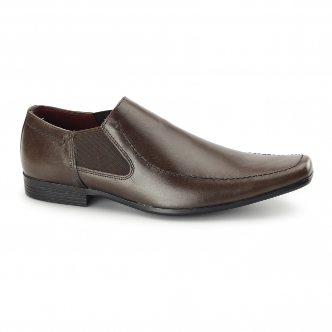 Red Tape HEDDON 2 Mens Leather Gusset Shoes Brown