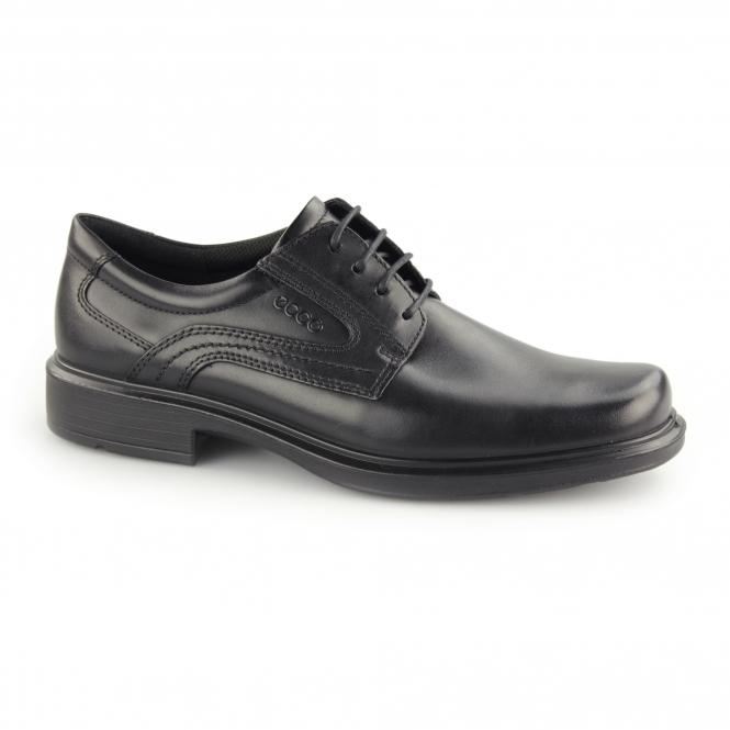 neuer Stil & Luxus Veröffentlichungsdatum Neupreis HELSINKI Mens Leather Lace Up Derby Shoes Black