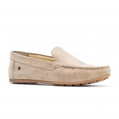 Base London HENTON Mens Leather Loafers Taupe