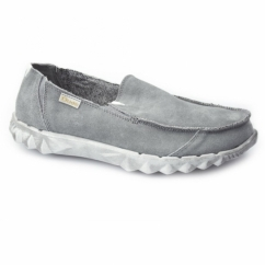 FARTY Mens Suede Slip-On Mule Shoes Fume