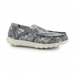 Hey Dude FARTY PRINT Mens Canvas Mule Shoes Blue Jungle