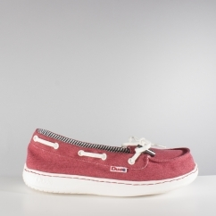 Hey Dude MOKA CLASSIC Ladies Womens Slip On Canvas Shoes Red