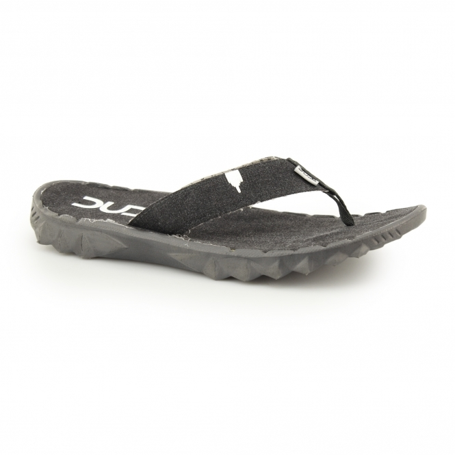 Hey Dude SAVA CANVAS Mens Canvas Flip Flops Black