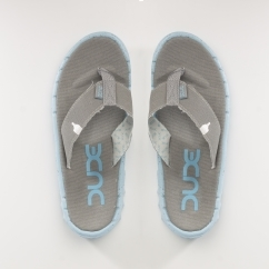 Hey Dude SAVA Ladies Canvas Slip On Flip Flops Grey Azur