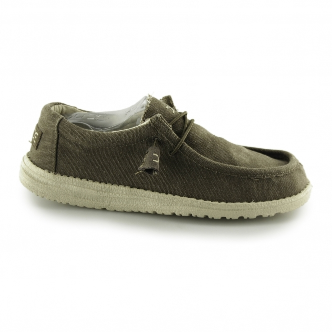 hey dude wally classic mens wide fit shoes wenge buy at