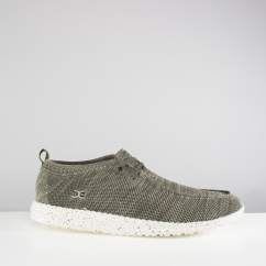 Hey Dude WALLY KNIT Mens Slip On Comfy Shoes Sage Green