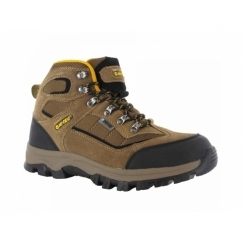HILLSIDE WP Boys Waterproof Hiking Boots Smokey Brown/Gold