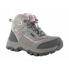 HILLSIDE WP Girls Waterproof Hiking Boots Grey/Pink