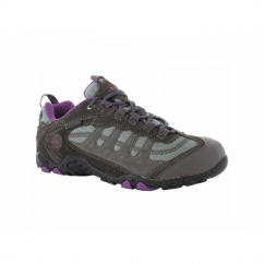 PENRITH LO WP Ladies Waterproof Hiking Shoes Charcoal/Purple