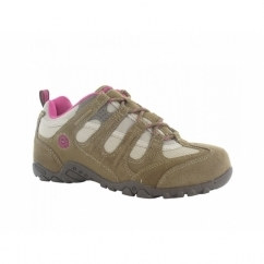QUADRA CLASSIC Ladies Walking Shoes Taupe/Cyclamen