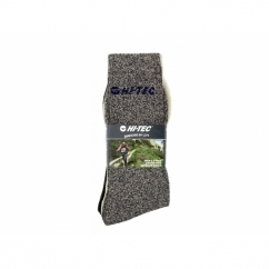SHERMAN Mens Cotton Rich Outdoor Socks 3 Pairs Navy/Beige/Grey