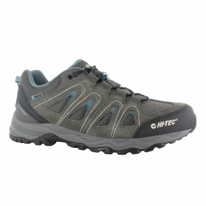 Hi-Tec SIGNAL HILL WP Mens Sports Trainers Grey/Blue