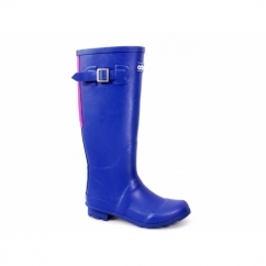 HIGHGROVE Ladies Zip Wellington Boots Blue