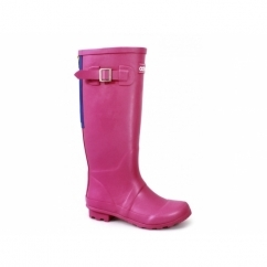 HIGHGROVE Ladies Zip Wellington Boots Fuchsia