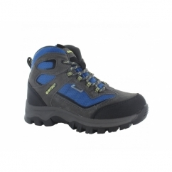HILLSIDE WP Boys Waterproof Hiking Boots Charcoal/Blue