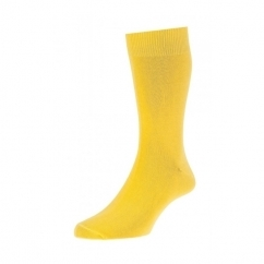 HJ48 Mens Bright Colours Fashion Socks Yellow