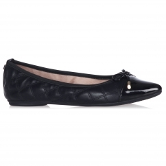 HOLLY Ladies Ballerina Pointed Flats Black