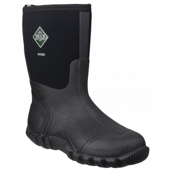 Muck Boots HOSER CLASSIC MID Unisex Waterproof Wellington Boots Black