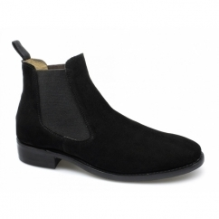 HOWARD Mens Suede Chelsea Boots Black