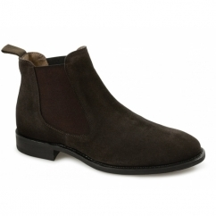 HOWARD Mens Suede Chelsea Boots Coffee Brown