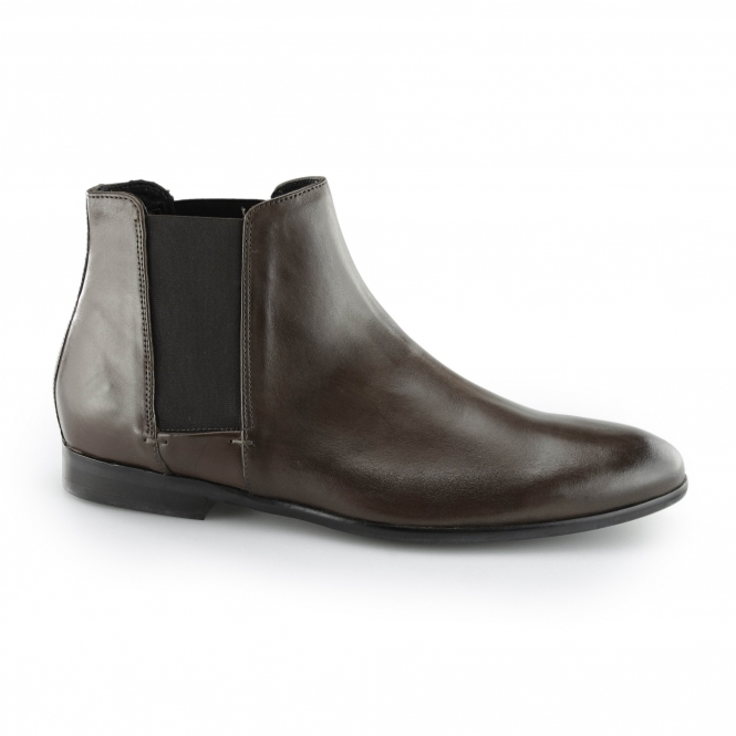 Hudson ADLER Mens Leather Elasticated Chelsea Boots Brown