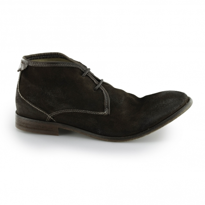 Hudson CRUISE Mens Suede Leather Chukka Boots Chocolate