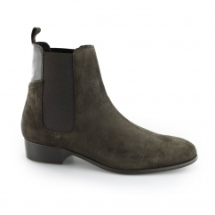 Hudson WATTS Mens Suede Leather Ankle Chelsea Boots Brown | Shuperb