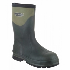 HUMBER SAFETY Mens WP Steel Toe Wellington Boots Moss