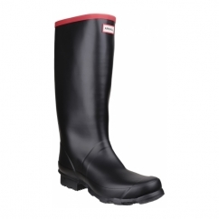 ARGYLL FULL KNEE Unisex Rubber Wellington Boots Black