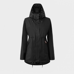 ORIGINAL Ladies Vinyl Smock Hooded Raincoat Black