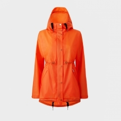 ORIGINAL Ladies Vinyl Smock Hooded Raincoat Orange