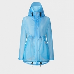 ORIGINAL Ladies Vinyl Smock Hooded Raincoat Pale Blue