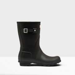 Hunter ORIGINAL SHORT Ladies Wellington Boots Black
