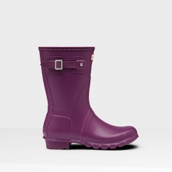 Hunter ORIGINAL SHORT Ladies Wellington Boots Violet